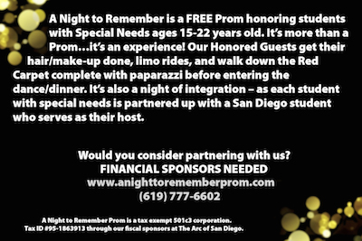 A Night To Remember Prom Needs Honored Guests