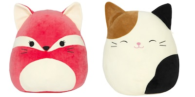 kellytoy squishmallow fox and cat