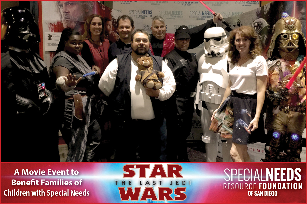 Star Wars The Last Jedi Movie Fundraiser for Special Needs