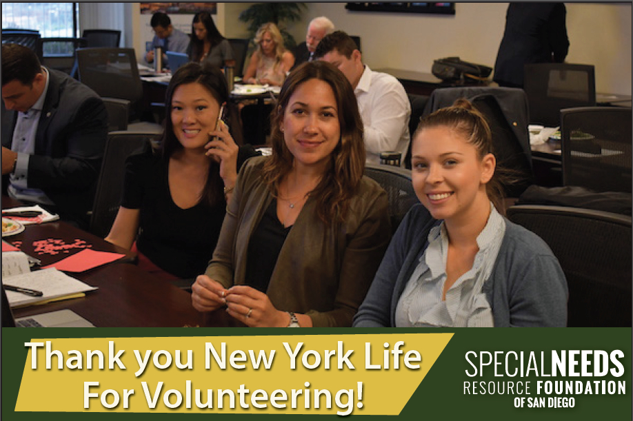 Thank you New York Life for your volunteer support!