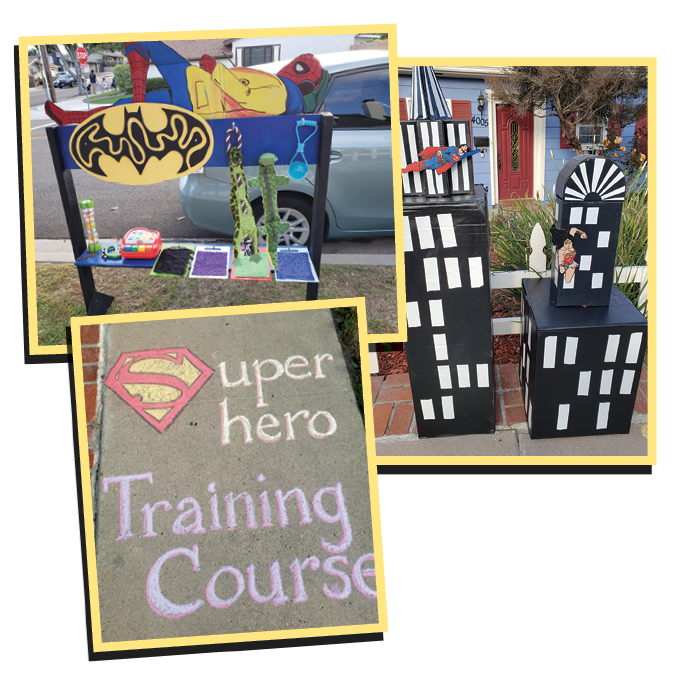 Superhero Sensory Sidewalk Course